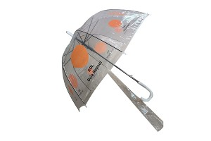 Polo type straight transparent PVC umbrella
