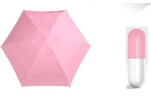 Mini foldable capsule umbrella
