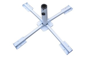 X cross style steel umbrella base