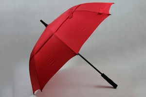 Pongee air-vented two canopies golf umbrella