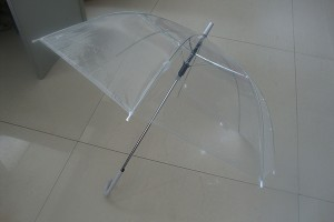 Normal type PVC stick clear umbrella