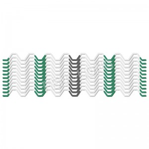 Wiggle terata, Galvanized Spring, Full PVC tlotsitsoeng Zigzag terata, White Color, 6 Years, B6 Series