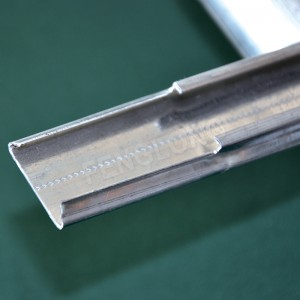 Galvanized Swedged Wiggle Wire Lock Channel, Greenhouse Spring Lock Profile