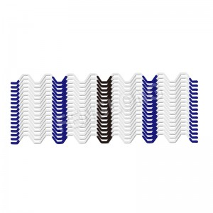 Wiggle Wire, Mashirika yasiyo ya mabati Spring, Full PVC coated Zigzag Wire, White Alama, 5 Years, B5 Series