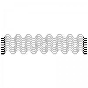 Wiggle Wire, Stainless Steel Spring, sculture PVC lattice Serre Wire, Silver Color, 8 Years
