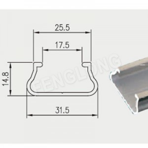 Aluminum Wiggle Wire Lock U Channel, Greenhouse Spring Lock Profile