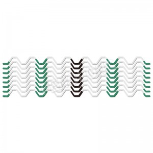 Wiggle Wire,Non-Galvanized Spring,Full PVC Coated Zigzag Wire, White Color, 5 Years, B5 Series