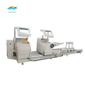 Double head 45 degree cutting saw