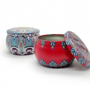 Decorative 4OZ metal tin cans for making candles