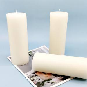 7.8 inch height Paraffin wax pillar candle