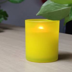 Long Lasting frosted Glass Jar Natural Soy Wax Scented Glass Candles