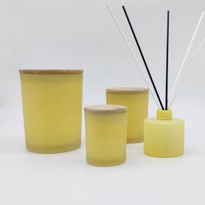 matte frosted custom Glass reed diffuser candle Vessel
