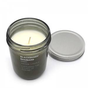 Personalized label aromatherapy candle