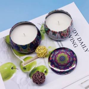 Portable Scented Tin Gift Candles with natural soy wax