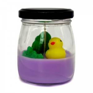 Paraffin wax glass jar art candle