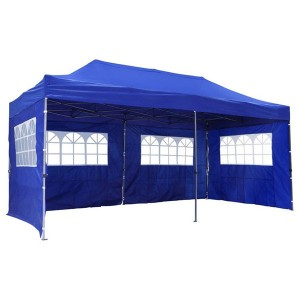 Outdoor Folding Gazebo With Sidewalls 3x6m