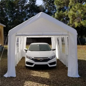 Outdoor Car Ports And Shelters 3x6m With Sidewalls