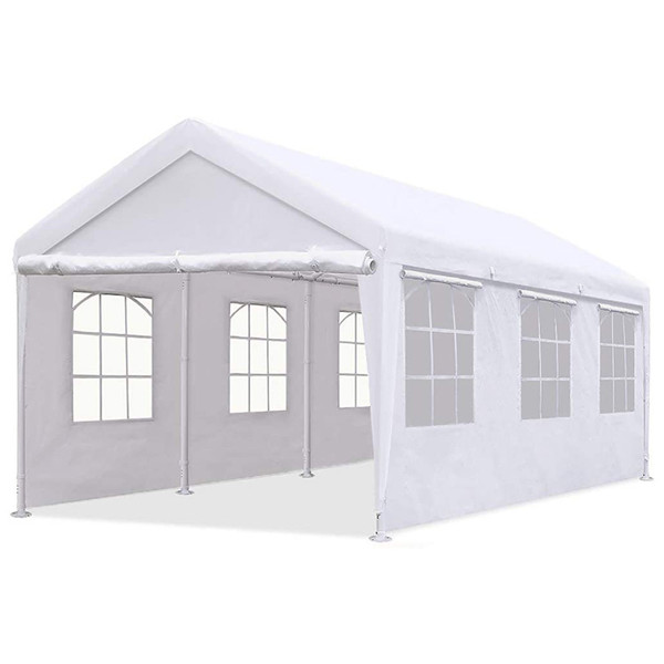 Outdoor Car Ports And Shelters 3x6m With Sidewalls Featured Image