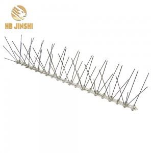 3m Pack 12pcs 25cm PC Base Color Box Stainless Steel Pest Control Pigeon Deterrent Anti Bird Spikes
