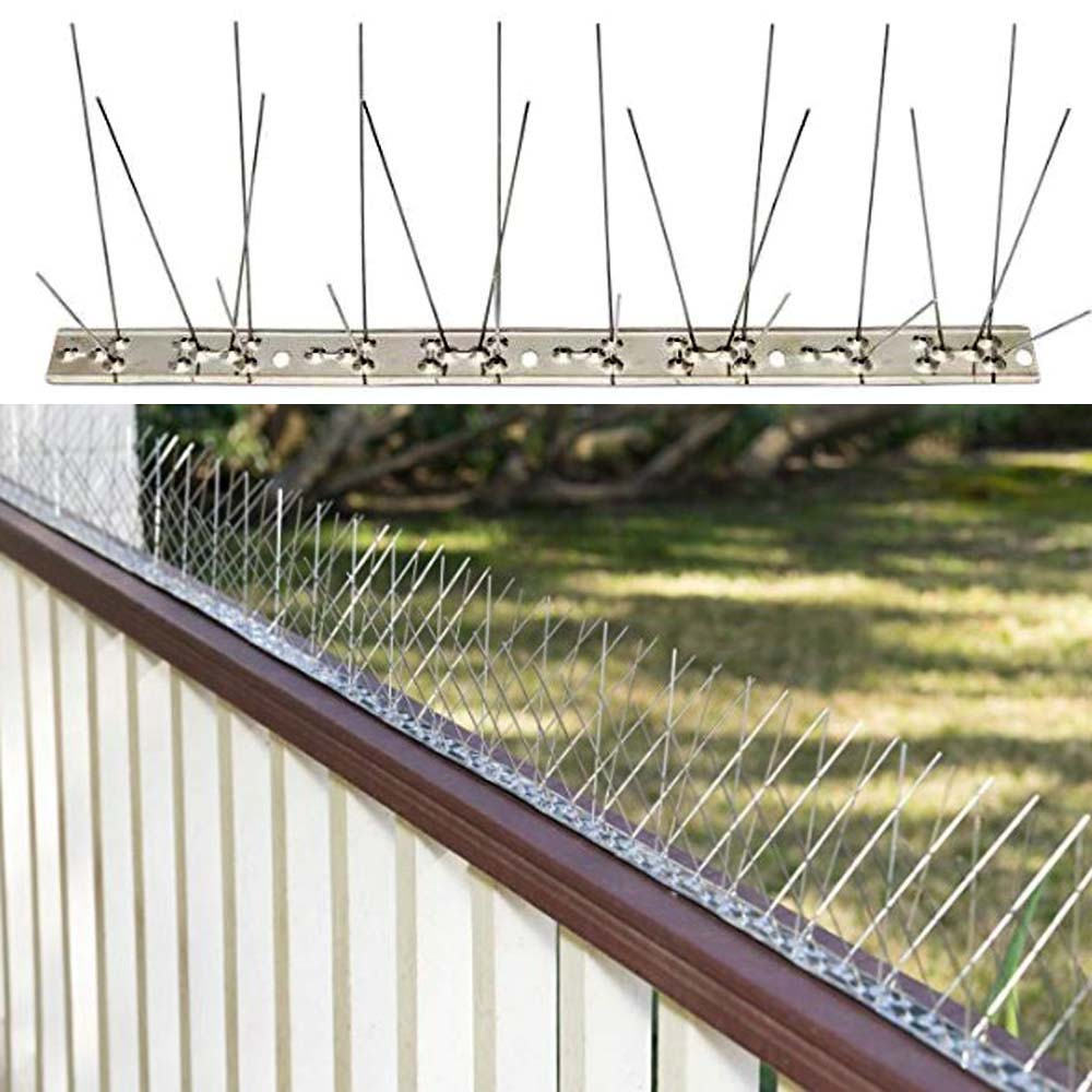 Stainless Steel Anti Bird Spikes Pest Control Pigeon Repellent Strips Bird Control