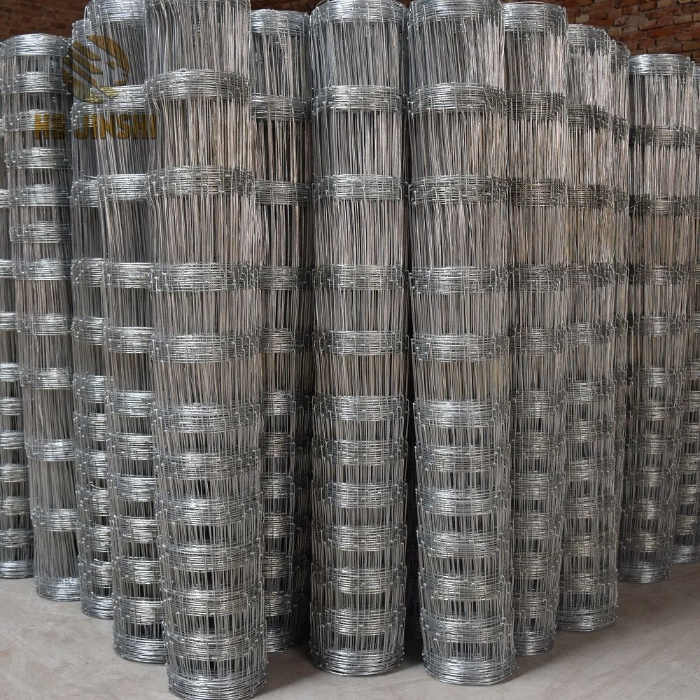 High Tensile Steel Wire Farm Field Fence Hinge Joint Cattle Fencing Wire Mesh in Rolls Featured Image