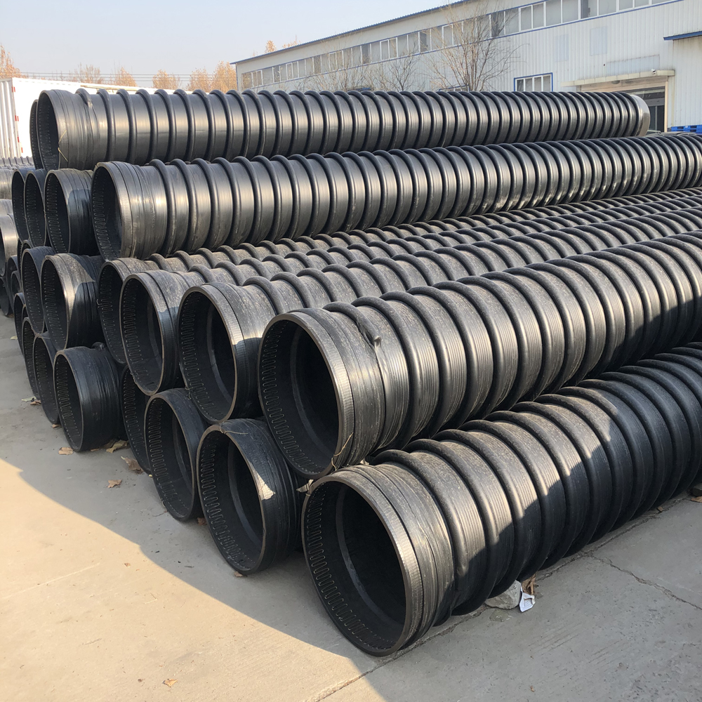 HDPE Drainage Pipe Winding Structure Wall Carat Pipe Tube