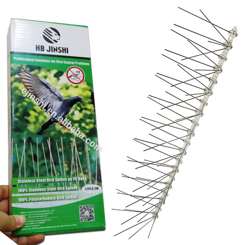 3m Pack Unassembled Color Box Pest Control Pigeon Deterrent Anti Bird Spikes