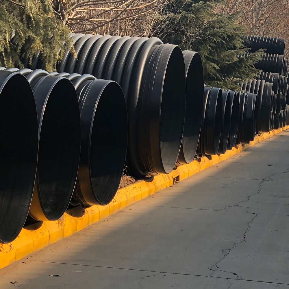 HDPE corrugated pipe plastic culvert pipe winding structure wall carat pipe