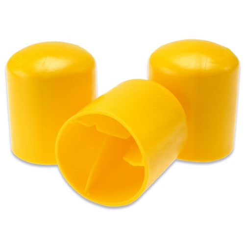 triangle Yellow Reo safety fence Cap  Fence Post reo safety  fence Cap