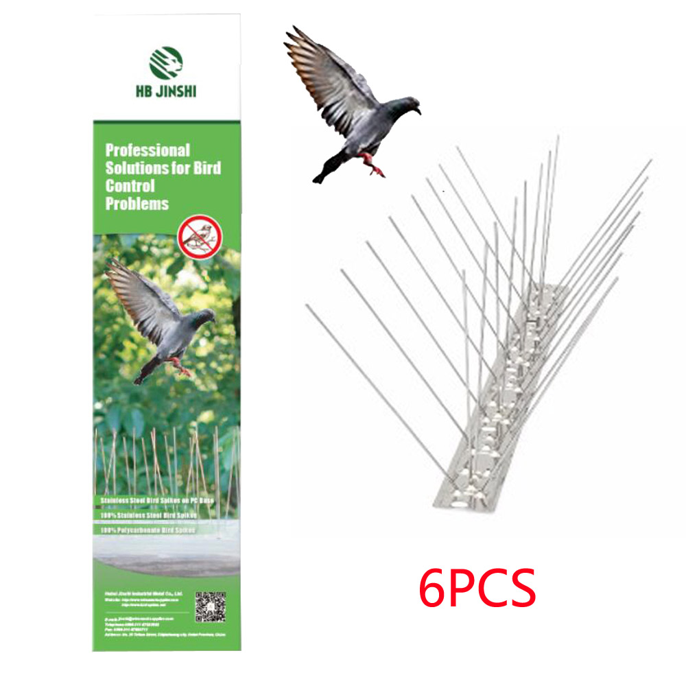 3m Pack 12pcs 25cm PC Base Color Box Stainless Steel Pest Control Pigeon Deterrent Anti Bird Spikes Featured Image