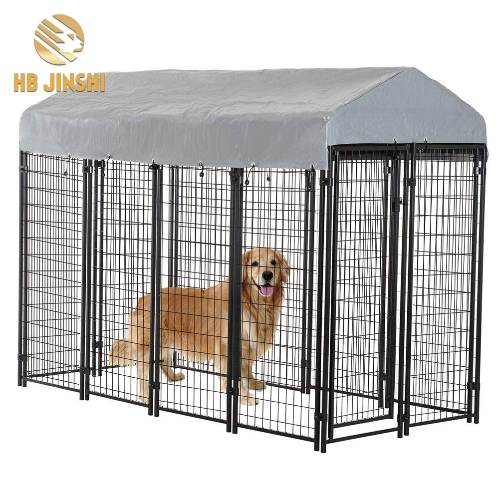4ft welded wire mesh dog kennel with roof