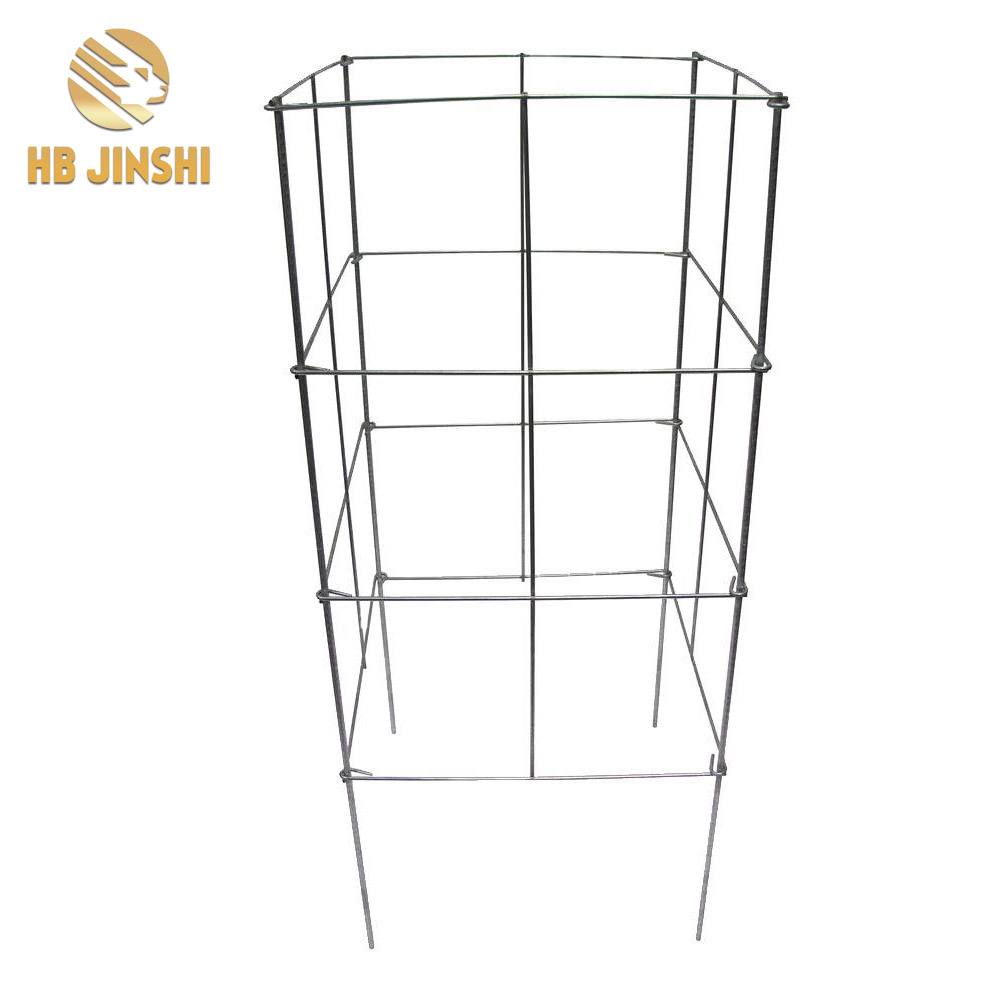 Folding wire cages for climbing garden plants made in China factory
