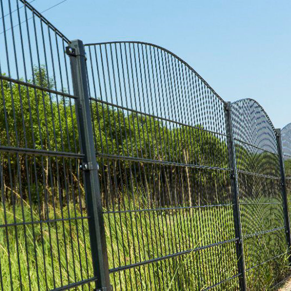 6/5/6 8/6/8 Twin Wire Mesh Fence Double Wire Welded Mesh Fence Panels