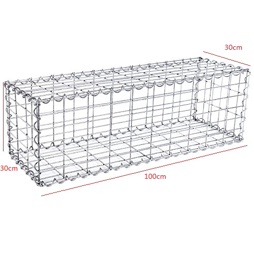 1m*0.5m*0.3m 4mm Galvanized Welded Gabion Box  for flood protective