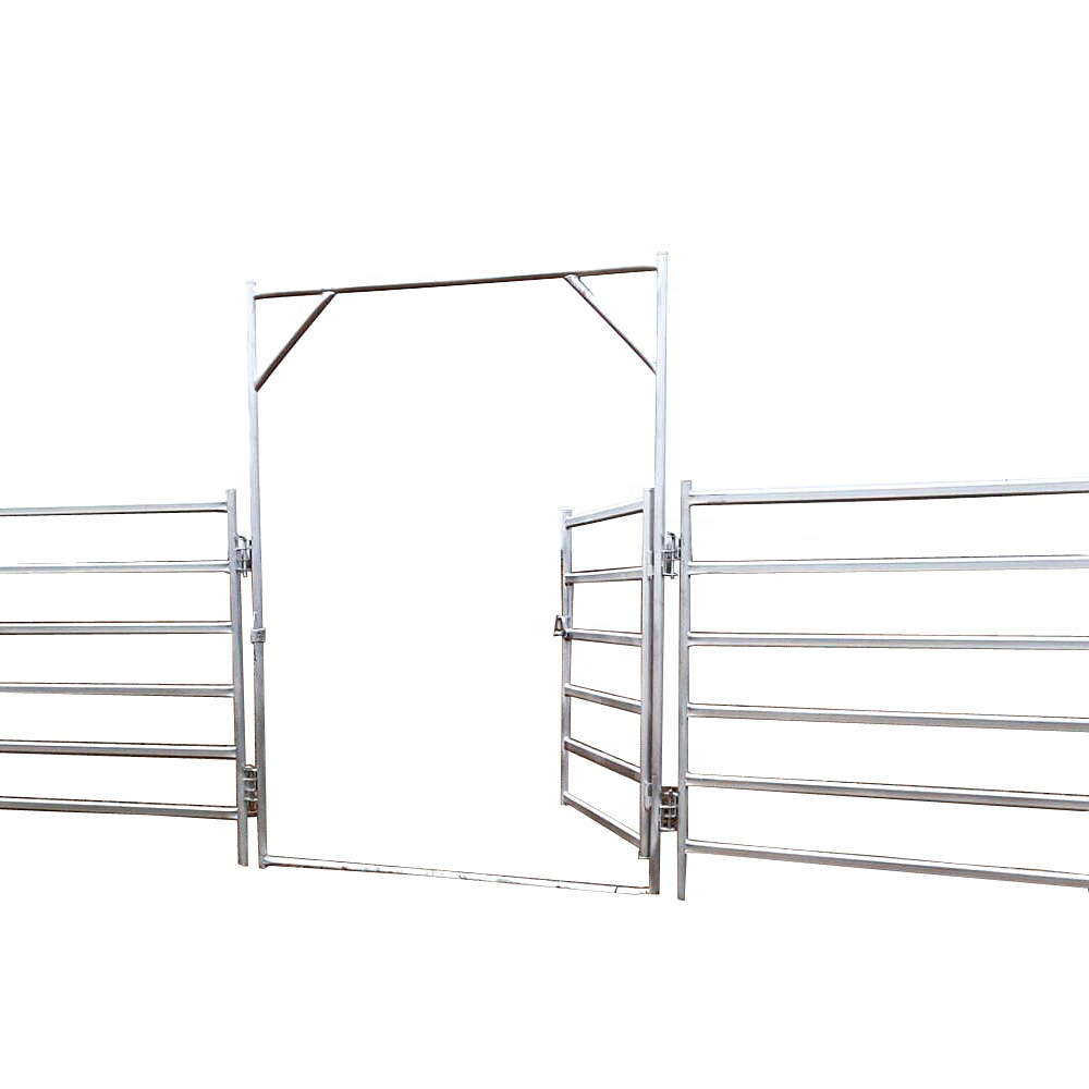 1800*2100mm heavy duty galvanized rail pastoral industry livestock farm fence cattle panels