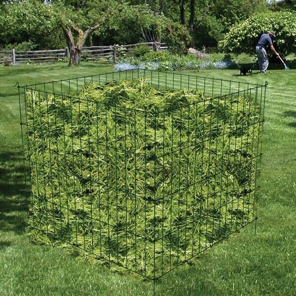 "48""x48""x36""  Powder Coated garden wire Compost CAGE for leaves and grass"