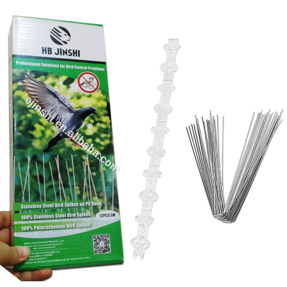 3m Pack PC Base and 304 Stainless Steel Unassembled Bird Control Bird Spikes