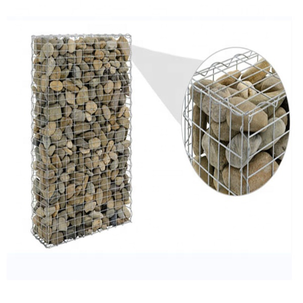 Garden Retaining Wall Metal Wire Gabion Cages 100x50x30cm