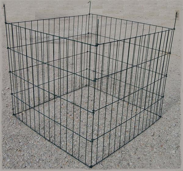 "36""x36""x30"" Powder Coated Leaves wire Compost Bin"