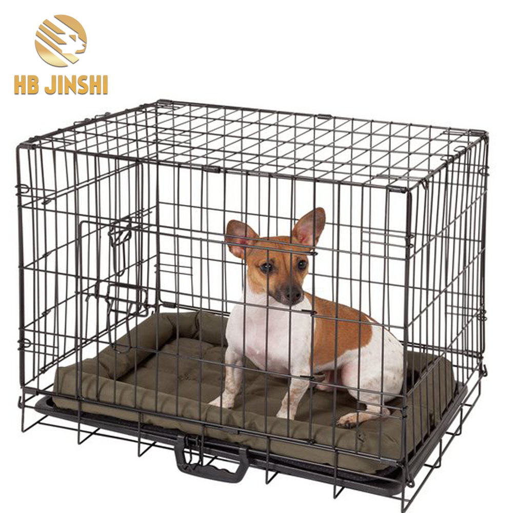 Portable Puppy Cat Rabbit House Double Doors Wire dog cages crates pet