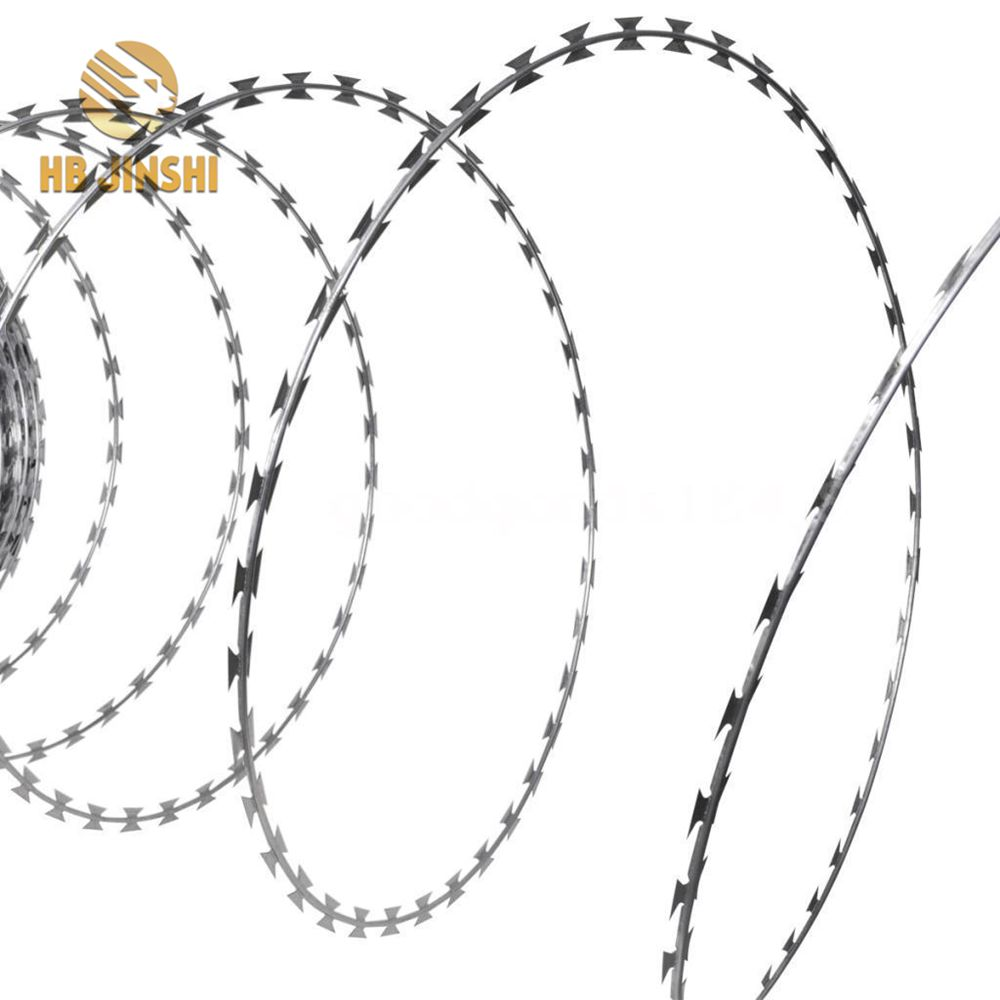Anti-Rust Heavy Zinc Coated Steel Razor Barbed Wire