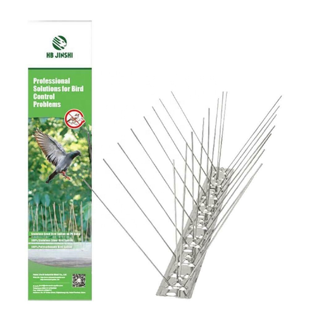 Stainless Steel Anti Bird Spikes Pigeon Repellent Strips Bird Control