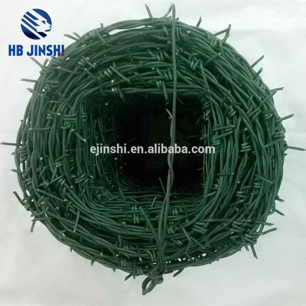 hot-dipped galvanized PE barbed wire
