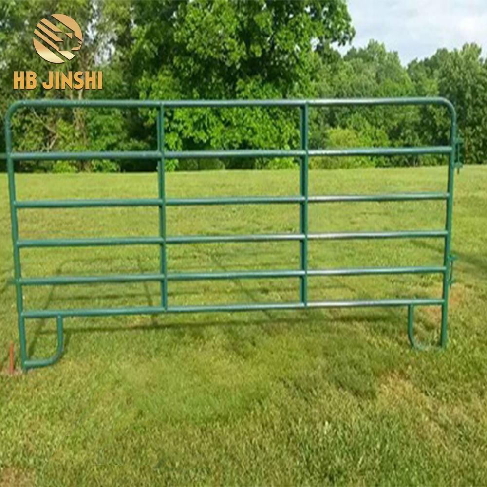 High quality Galvanized calf hutch cattle horse coral panel with round pipe