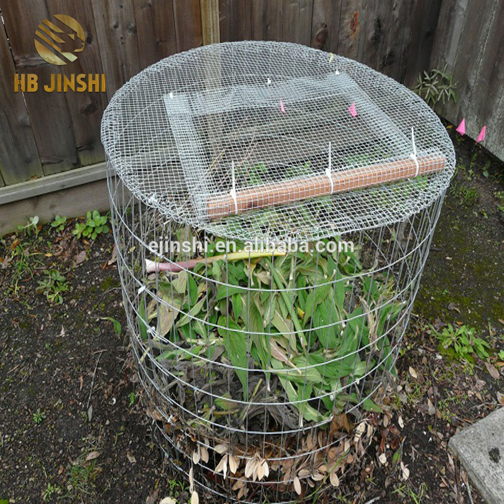 DIY Leaf Compost Bin made from wire mesh