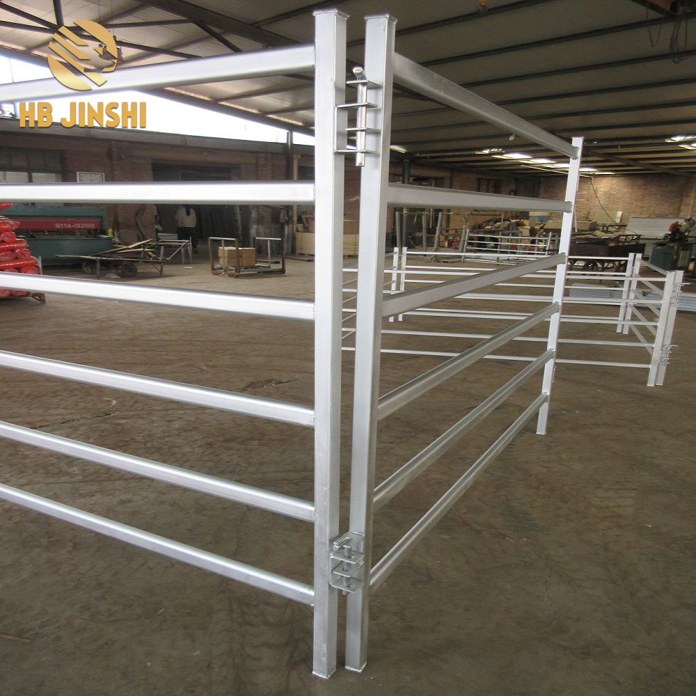 High Quality 5 Rails 6 Rails Metal Cattle Fence Panel Horse Panel Sheep Yard Panel
