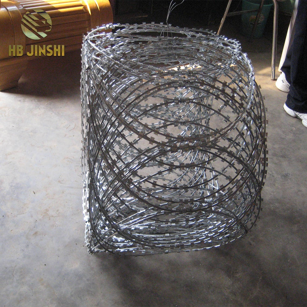 Flat Wrapped Razor Wire Coils Easy Installation and Wide Use