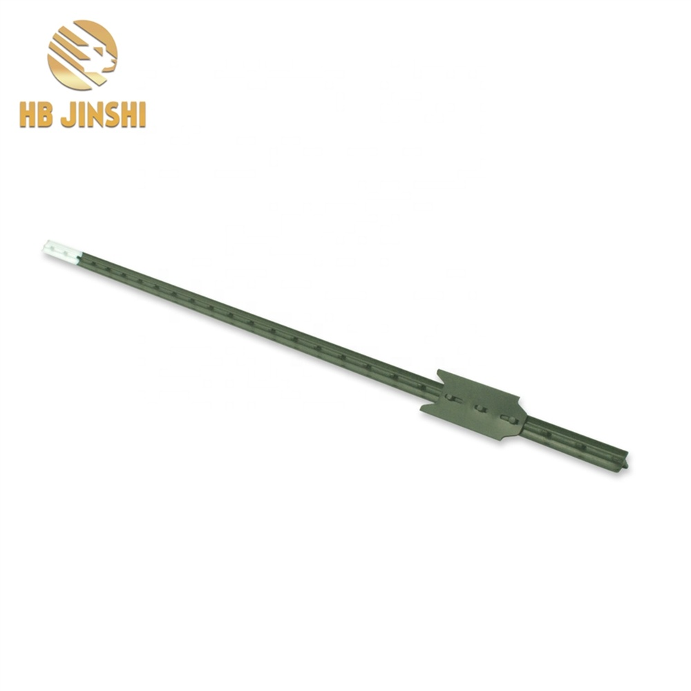 1.82m  Green Painted Studded T Post Fence Post For Farm