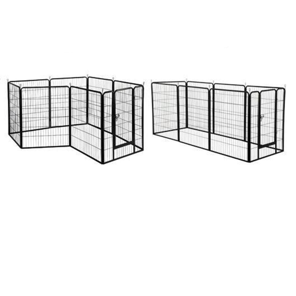 Pet Kennel Pen Exercise Cage Fence 8 Panel Dog Playpen