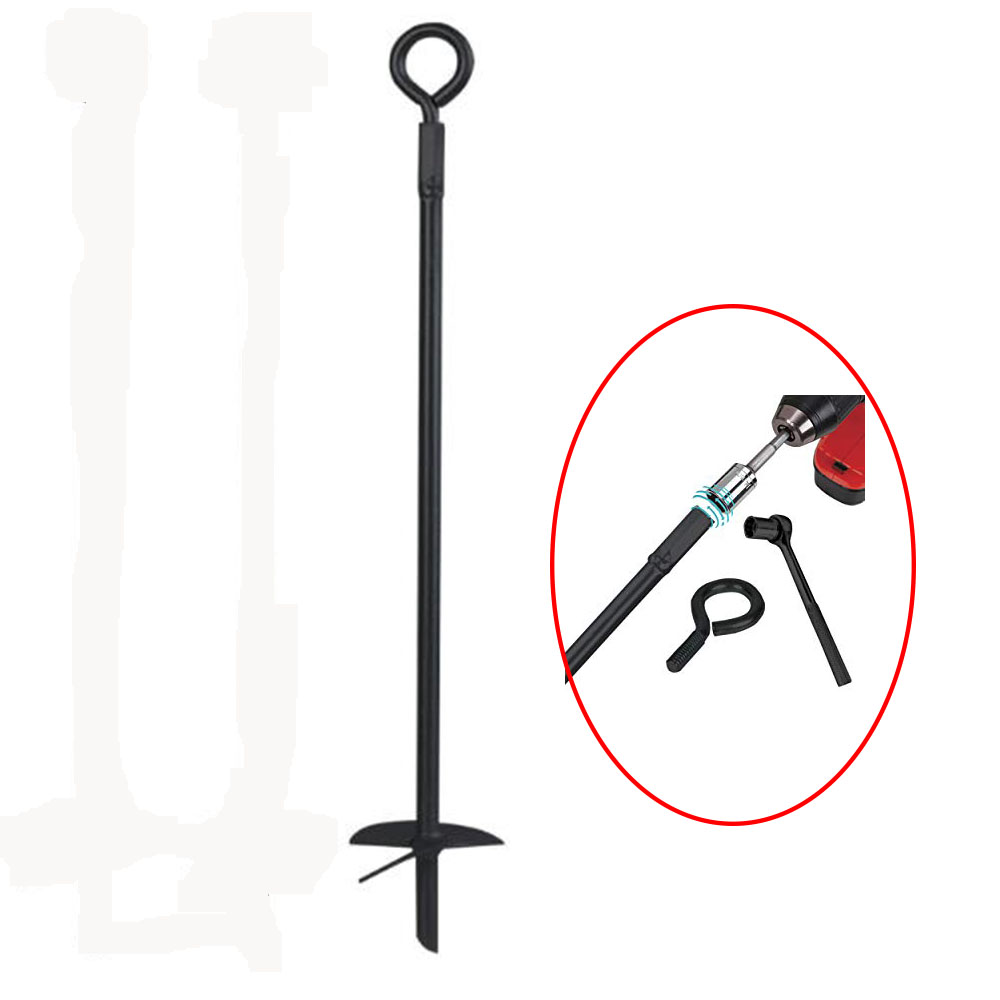 Metal steel Ground auger Ground Anchor Drill with screw head